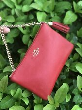 NWT Coach RED Prairie Zip Leather Large Wristlet 52943