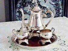 ELEGANT SILVER PLATED ART NOUVEAU STYLE  COFFEE / TEA SET RAINLEIGH  WITH TRAY .