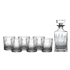 Royal Doulton Earlswood Crystal Whiskey Decanter Set - Decanter + 6 Tumblers