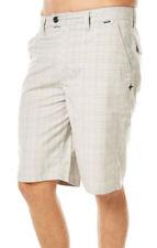 Hurley Men's Barcelona Creame Check Magnum Walk Shorts Size: 38