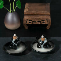 Backflow Buddha Ceramic Incense Burner Holder Buddhist Sandalwood Cones