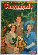 ►CINE MONDE 816/1950- JEAN DESAILLY- VAN JOHNSON- LUIS MARIANO- MARTINE CAROL...