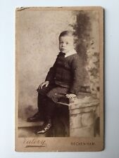 Victorian Carte De Visite CDV Photo - Valery - Beckenham  - Young Boy