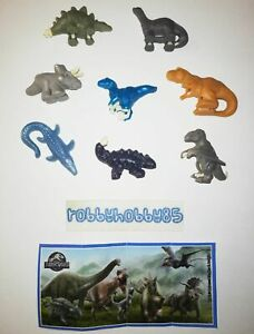 JURASSIC WORLD COMPLETE SET WITH ALL PAPERS KINDER SURPRISE 2020