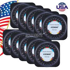 USA AZDENT Dental Orthodontic Brackets Ceramic Braces Roth 0.022 5*5 3-4-5 Hooks