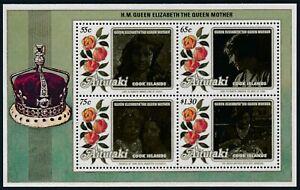 1985 AITUTAKI LIFE & TIMES OF THE QUEEN MOTHER MINI SHEET FINE MINT MNH/MUH
