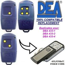 Dea 433-1 / Dea 433-2 / Dea 433-4 compatible remote control transmitter / clone