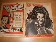 January 6th 1951, EVERYBODY'S, Mavis Yorke, Alistaire Cooke, Fernando Gagnon.
