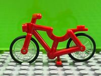 New LEGO Red Bicycle, Minifigure Bike Authentic Minifig Accessory 4719c02