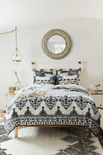 ANTHROPOLOGIE BLACK OAKBROOK QUEEN DUVET COVER *BRAND NEW*
