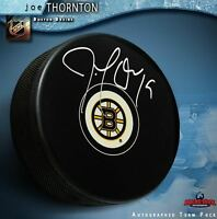 JOE THORNTON Signed Boston Bruins Puck - San Jose Sharks