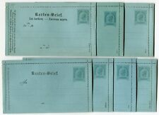 Austria 1890 3kr & 5kr postal stationery letter cards x14 Mi K.15-K.28 unused