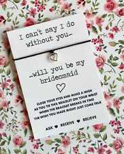 Will You Be My Bridesmaid Wish String, Wish Bracelet! BUY 5 GET 1 FREE!!