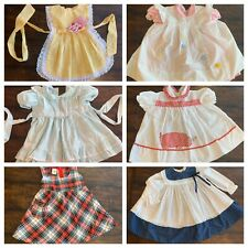 Vtg Lot Baby Girls Clothes Dresses Pinafore Appliqué 24 Mo 2T Embroidered A17