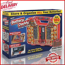 New Battery Daddy Battery Organizer and Battery Storage System Case with Tester