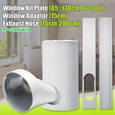 Window Adaptor +2PCS Kit Plate + Exhaust Hose 6'' Dia For Portable Air  !