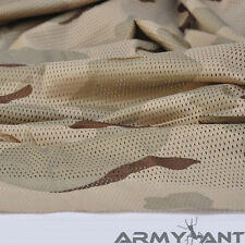 "2-YARDS 3-color desert Camouflage Net Cover Army Military 60""W Mesh Fabric Cloth"