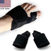 USA 2PCS Big Toe Bunion Corrector Hallux Valgus Splint Straightener Pain Relief