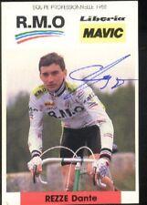 DANTE REZZE cyclisme ciclismo radsport signée RMO MAVIC