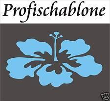 SCHABLONE, WANDSCHABLONE, DEKORFRIES, MALERSCHABLONE, FLORAL - Hibiskusblüte XXL