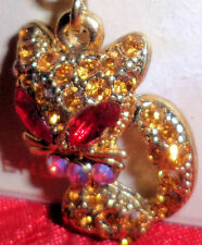 Siamese Kitty Cat Costume Jewelry Gold Tone Pin Fashion Brooch Rhinestone Charm