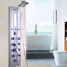 Shower Tower Rainfall Waterfall Panel System 10 Massage Jets Mirror Hand Shower