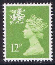 GB QEII MNH STAMP Wales SG W32 12p Yellowish-Green Regional Machin Definitive