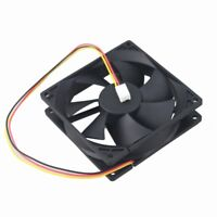 2pcs DC 92mm 92x25mm 12V 3Pin Sleeve Brushless 90mm 7 Blade PC Case Cooling Fan