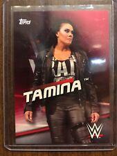 2016 Topps WWE Diva Revolutions Pink Card Tamina Snuka #2 /35