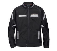 HARLEY-DAVIDSON® MEN'S SOFT SHELL MESH BLACK JACKET 97518-19VM LARGE