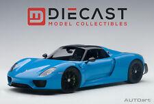 AUTOART 77924 PORSCHE 918 SPYDER WEISSACH PACKAGE (RIVIERA BLUE) 1:18TH SCALE