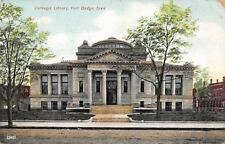 Fort Dodge Iowa~Carnegie Library~1st Ave North~Apartments Now~1909 Postcard