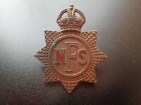 Original WW2 National Fire Service Brigade NFS Auxiliary AFS Cap Badge (Lot B3)