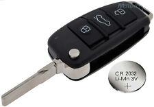 Fits Audi A3 A4 A6 A8 TT Q5 Q7 3 Button KEY FOB REMOTE CASE SHELL+ battery