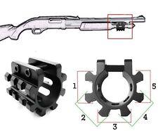 "Tactical Tri Rail Picatinny Mounts For Remington 870 12GA 1"" Shotgun Mag Tube"