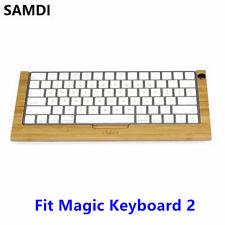 SAMDI Wooden Magic Keyboard 2 Stand Bamboo Holder Dock for iMac Computer Laptop