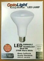BR30 LED Dimmable Bulb 9W = 65W, 810 Lumens Warm White OptoLight Buy More & Save