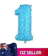 """Blue Foil Helium number 1 balloon -  40"""" inch 100cm Brithday Party one AUS STOCK"""
