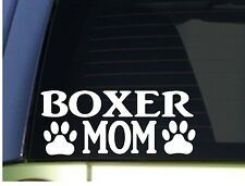 Boxer Mom sticker *H350* 8.5 inch wide vinyl ear crop leash collar