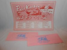 Pixie Kitchen Restaurant Paper Placemat Gift Bags Lincoln City Oregon Coast Lot