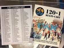120-1 Multicart (Multi-Cart) and Games List Neo Geo Mini Arcade Marquees