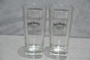 2x Jack Daniel's Old No.7 Brand Long Drink Glasses Highball Tumbler 35cl 11.9oz