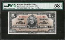 1937 Bank of Canada $100 Dollars Pick 27c PMG 58 EPQ (Coyne/Towers)