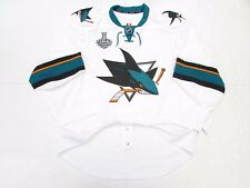 SAN JOSE SHARKS AWAY 2016 STANLEY CUP TEAM ISSUED REEBOK EDGE 2.0 JERSEY SIZE 56