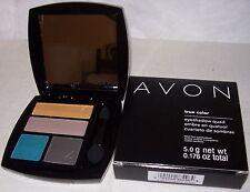 AVON True Color Eyeshadow QUAD! SAVAGE BEAUTY,Earthy Colors. w/FREE Mascara. NEW