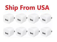 8x White 1A USB Power Adapter AC Home Wall Charger US Plug For iPhone 5 6 7 8