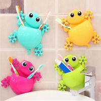 Home Bathroom Toothbrush Holder Wall Mount Suction Cup Toothpaste Storage MO