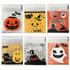 Halloween Cookie Candy Plastic Bags Horror Pumpkin Witch Ghost Transparent Pouch