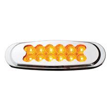Amber Matrix Style Ultra Thin Spyder 12-LED Marker Light with Chrome Bezel