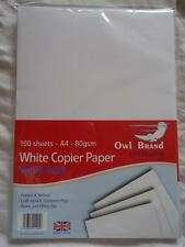 A4 100 SHEETS  80GSM  WHITE COPIER PRINTER  PAPER - BNIP